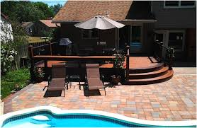 Composite Patio Pavers by Pool Deck Designs With Pavers For Summer Amazing Decks