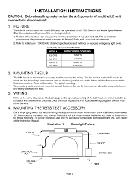 installation instructions fixture mounting the ilb iota ilb