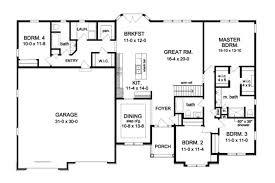 home plan homepw76677 2300 square foot 4 bedroom 3 bathroom
