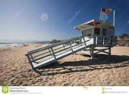 life guard house on the santa monica beach stock photography