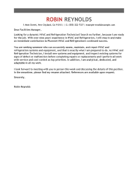 Cover Letter For Technician Facilities Technician Cover Letter Hr Team Leader Cover Letter
