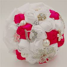online get cheap crystal bridal bouquet white aliexpress com