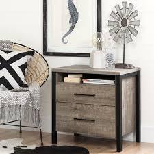 south shore munich weathered oak 2 drawer nightstand walmart canada