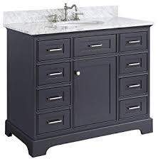 42 bathroom vanity cabinet amazon com 42 inch solid wood bathroom vanity cabinet in grey