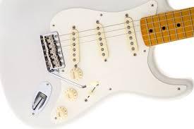 fender eric johnson stratocaster maple fingerboard white blonde
