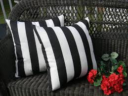 black and white striped patio cushions home outdoor decoration