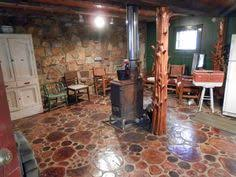 log floor flooring made from end grain log wafers and sawdust grout wood