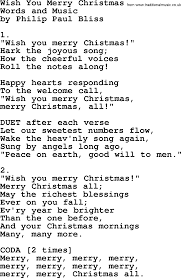 wish you merry by philip bliss christian hymn or song lyrics