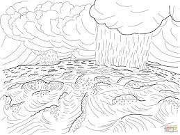 second day of creation coloring page free printable coloring pages
