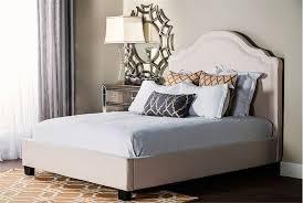 upholstered sleigh bed queen ashenhurst black modern sleigh bed