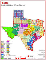 Map Of The State Of Texas American Red Cross Maps And Graphics