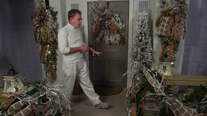 2016 christmas decorating theme winter frost entrance youtube