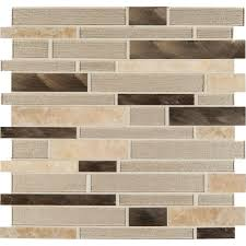 How To Install A Mosaic Tile Backsplash In The Kitchen by Ms International Champagne Toast Interlocking 12 In X 12 In X 4