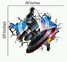 Captain America Decor Marvel Avengers Whole Room Decal Decor Set Iron Man Hulk Captain