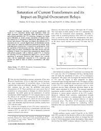 saturation of current transformers and its impact on digital
