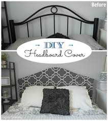 How To Make A Bamboo Headboard by Easy No Sew Headboard Slipcover Tutorial Budgeting Metals And