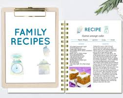 editable cook book recipe template recipe pages pattern