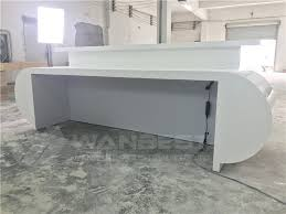 Marble Reception Desk White Corian Artificial Marble Reception Desk Rgb Led Lighting