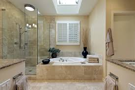 Marble Master Bathroom by Luxury Master Bath With Skylight Home Interior Design Ideas