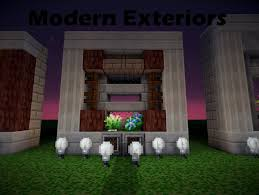 how to make a modern exterior minecraft