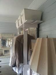 free standing closet made with an old door hometalk