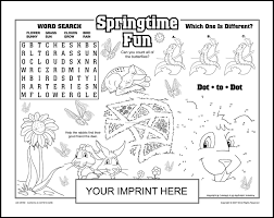 8 best images of spring printable placemats free activity