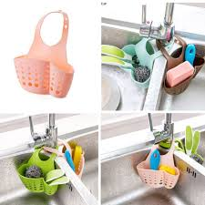 Kitchen Soap Dish Sponge Holder by Kitchen Portable Hanging Drain Bag Basket Bath Storage Gadget