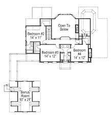 colonial style house plan 4 beds 3 50 baths 2865 sq ft plan 429 13 colonial style house plan 4 beds 3 50 baths 2865 sq ft plan 429