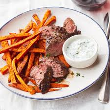 cuisine steak montreal style hanger steak potato frites recipe eatingwell