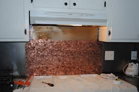 How To Do A Kitchen Backsplash Mom Transforms Her Whole Kitchen Using Old Pennies