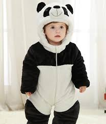 Panda Halloween Costume Baby Panda Child Kigurumi Baby Pajamas Toddler Animal Suits Cosplay