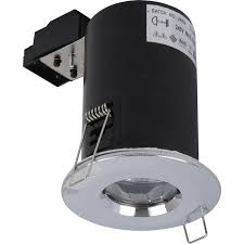 fire rated cast ip65 gu10 downlight chrome toolstation