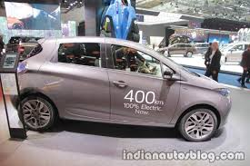 renault zoe electric renault zoe side at the iaa 2017 indian autos blog