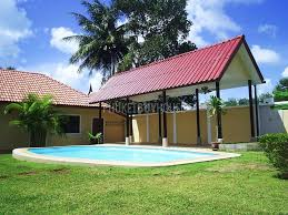 house with carport raw1392 pool villa with large garden in sai yuan phuket buy house