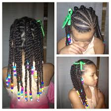 1920 hairstyles for kids cornrow braids and beads natural hair kids for black girls little