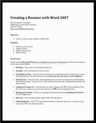 Resume On Word How To Get A Resume Template On Microsoft Word 2007 How To Do A