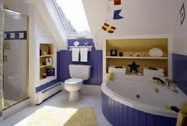 Blue And White Bathroom by Bathroom Blue And White Themed Kids Bathroom Designs With White