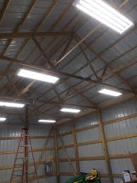 led pole barn lighting pole barn added 150 service receptacles exterior lights and