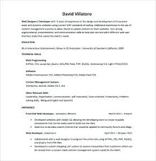 sample front end developer resume u2013 topshoppingnetwork com