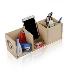 Desk Organizer Box Kmashi Wooden Diy Desk Desktop Organizer Box Storage Cabinet