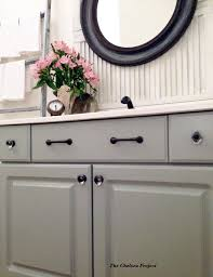 Powder Room Makeover Ideas Melamine Bath Vanity Refinished Without Stripping Sanding Or