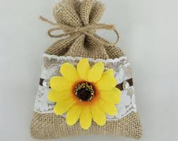 sunflower wedding favors sunflower favor bags etsy