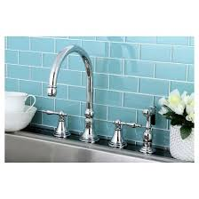 4 kitchen faucet chrome widespead 4 solid brass kitchen faucet kingston