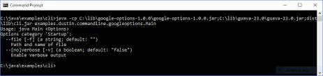 Google Snapshots Java Command Line Interfaces Part 14 Google Options Dzone Java