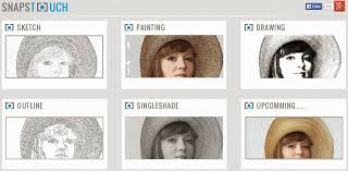convert photo to sketch painting drawing photo outline single