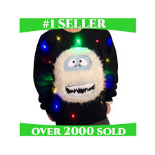 ugly christmas sweater with lights ugly christmas sweater lights up sweatshirt abominable