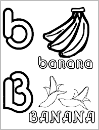 letter b banana coloring pages coloring letter b coloring page for