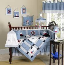 Nautical Baby Crib Bedding Sets Nautical Themed Blue Baby Crib Bedding 9pc Boy Nursery Set