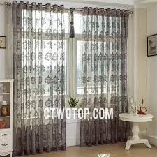 Patterned Sheer Curtains Fabulous White Yarn Patterned Sheer Curtains Floral