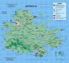 Germany Physical Map by Detailed Road And Physical Map Of Antigua Antigua Detailed Road